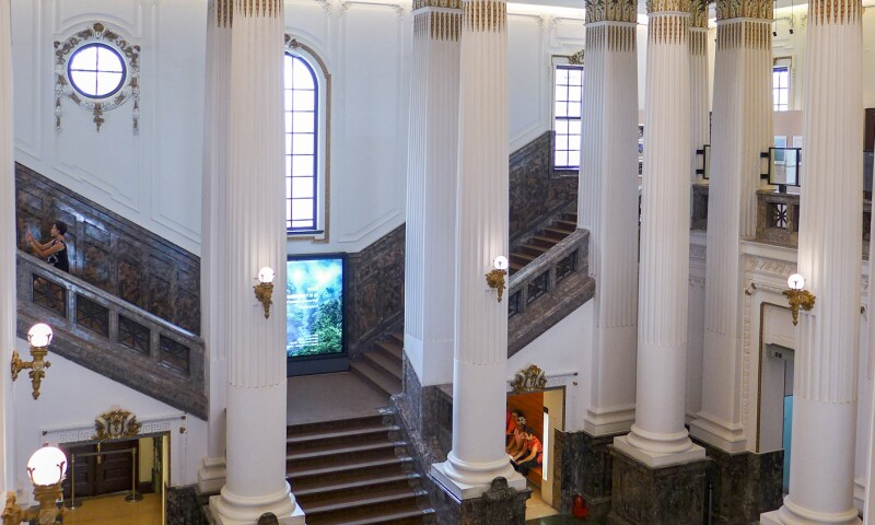 Interior view of the National Taiwan Museum in Taipei.
