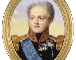 320. henri benner | portrait of alexander i, emperor of russia (1777-1825), circa 1821