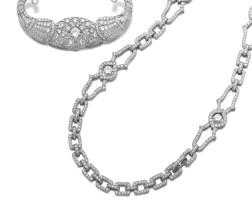 38. 鑽石長項鏈一條及鑽石別針一枚