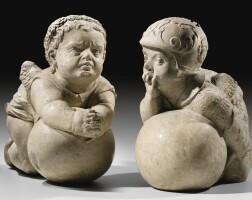 35. hans daucher (1486-1538)south german, augsburg,circa 1525-1530an important pair of putti |
