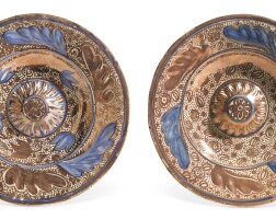 9. two hispano-moresque lustre dishes, 19th century