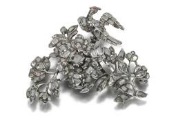 8. garnet and diamond brooch, 18th century