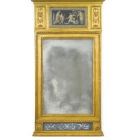 3. a gustav iv swedish neoclassical carved giltwood and polychrome-decorated mirror circa 1810