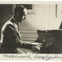 179. gershwin, george. fine photographic portrait signed and inscribed by the composer