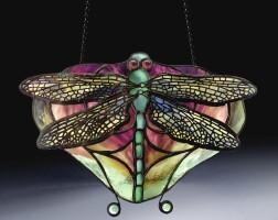 "8. tiffany studios | ""dragonfly"" lamp screen"