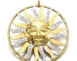 7. gold and diamond pendant
