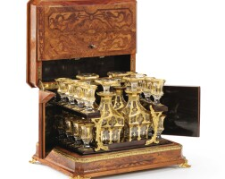20. a french gilt-metal mounted walnut liquor casket, circa 1850 |