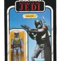7. star wars return of the jedi '77a-back' boba fett action figure, 1983