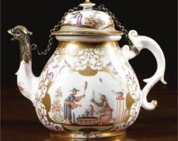 8. a meissen tea pot and cover circa 1725