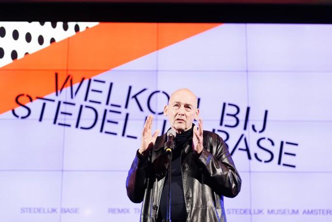 Rem Koolhaas at opening of Stedelijk Base