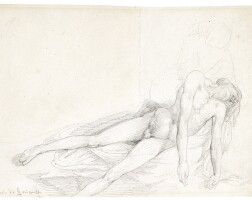 107. jean-louis-andré-théodore gericault | study of a reclining male nude