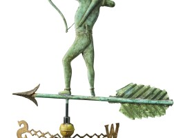 1781. molded copper and cast-iron 'indian' weathervane, late 19th/early 20th century |