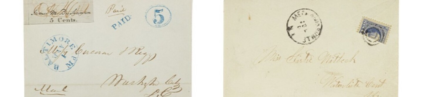 post master provisional sold in an auction selling rare stamps