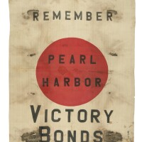 326. world war ii. a captured japanese flag repurposed as a promotional banner for u.s. victory bonds, ca. 1941–19