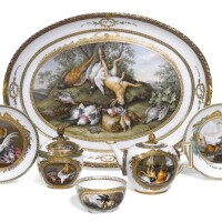 22. a meissen (marcolini) porcelain part dejeuner  