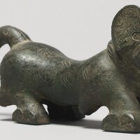 102. an archaistic bronze figure of a tiger qing dynasty