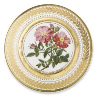 46. a russian porcelain plate, yusupov manufactory, arkhangel'skoe, 1826