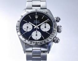 254. 勞力士(rolex) | 6265型號「'big red' daytona」精鋼計時鍊帶腕錶,年份約1973。