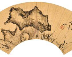 2504. 傅山 1607-1684 | 蘭石圖