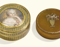 6. a gold-mounted lacquerboîteà portrait, paris, circa 1780