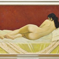 740. liu haiming four oil paintings