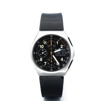 2. bell & ross | space 3a stainless steel automatic chronograph wristwatch with day and date circa 2000
