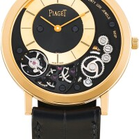 112. piaget   altiplano, reference p10920 a pink gold semi-skeletonised wristwatch, circa 2017