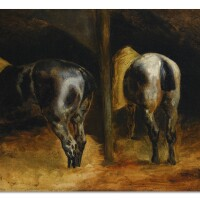 110. théodore géricault | horses' rumps