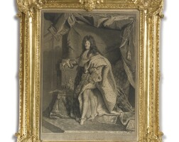 42. a louis xv carved giltwood frame circa 1735, reduced in size