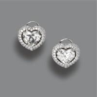 173. pair of diamond earclips