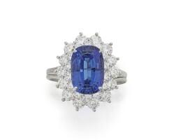 20. tanzanite and diamond ring, tiffany & co.