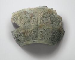 42. fragment d'un vase en bronze, hu dynastie des zhou orientaux, fin de l'époque printemps-automne,ca.vie-ve siècle avant j.-c.