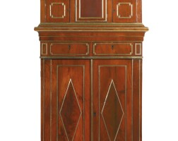7. a russian neoclassical style brass-mounted mahogany cabinet partially composed of 19th century elements