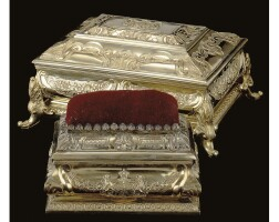 4. two royal german silver-gilt boxes, georg drewes, hanover, circa 1841 date letter h