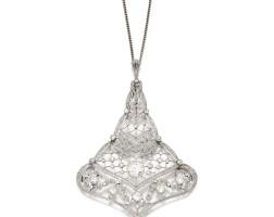 6. diamond pendent necklace, circa 1910
