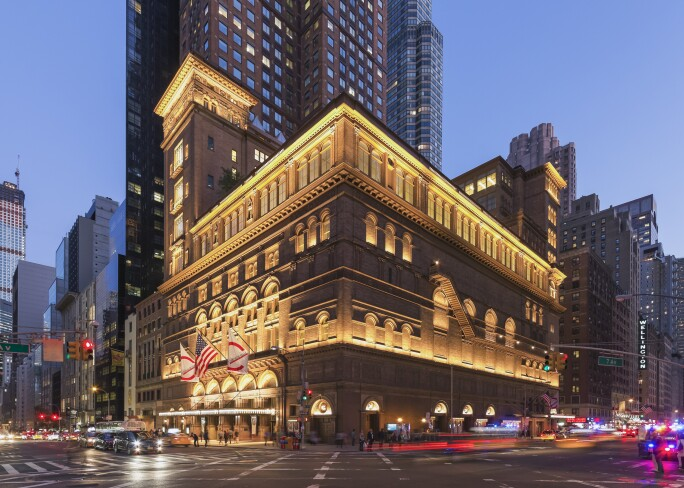 Carnegie Hall: Color Corrected Exterior Photo