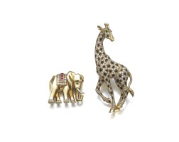 20. two gem set brooches, cartier