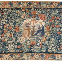 8. a music allegory mille-fleurs tapestry, bruges, first halfof the 16th century |