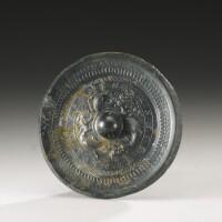 4. a bronze'dragon and tiger'mirror han dynasty