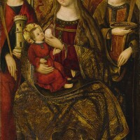 107. master of perea | virginand child with saints barbara and lucy