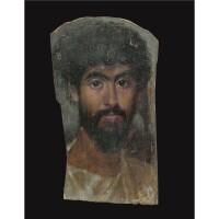 27. an encausticmummy portrait of a man, antonine , circa a.d. 138-192