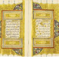 24. an illuminated qu'ran, copied by osman ibnmahmud anqaravi, known as karabaji-zadeh, turkey, probably ankara, ottoman, dated 1221 ah/1806 ad