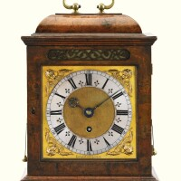 5. joseph knibb. a walnut quarter repeating table timepiece, london, circa 1685