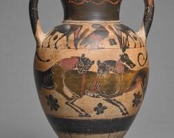 12. a chalcidian black-figured amphora, circa 550-525 b.c. | a chalcidian black-figured amphora