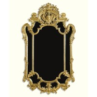 11. a fine french giltwood and composition mirror circa 1860