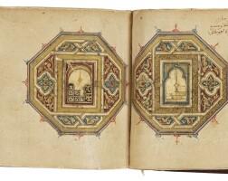 35. an illuminated dala'il al-khayrat, north africa, dated 1133 ah/1721 ad