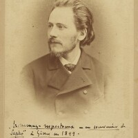 191. massenet, jules. fine cabinet photograph with long autograph inscription in black ink signed by the composer
