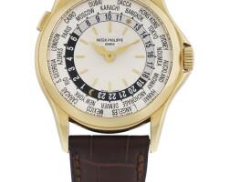 220. 百達翡麗(patek philippe) | 5110j型號黃金兩地時間腕錶,2000年製。