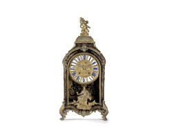 29. a french louis xiv boulle ormolu mounted inlaid bracket clock, du pre, early 18th century