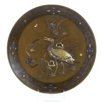 361A. a bronze dish meiji period, late 19th century